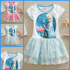 US4932  Elsa Anna Disney Baby Princess Frozen Gift Party Girls Dress Age 3 to 8
