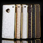 For HTC One M7 New Luxury Gold Plating Hard case cover