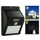 6 8 LED Solar Power PIR Motion Sensor Wall Light Outdoor Waterproof Garden Lamp