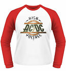 AC/DC High Voltage LONGSLEEVE BASEBALL T-SHIRT OFFICIAL MERCHANDISE NEU
