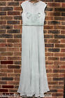 Karen Millen Mint Silk Fluid Evening Cocktail Fashion Maxi Dress 10 38 - 14 42
