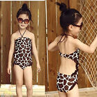New Girls Backless Bathing Swimwear Swimsuit Kids Tankini Bikini 2-8Y Beachwear