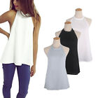 Sexy Ladies Summer Backless Sleeveless Chiffon Strappy T-shirt Blouse Top Vest