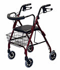 Deluxe Medline MDS86810 Rollator Rolling Walker Folding Large Wheels -3 Colors