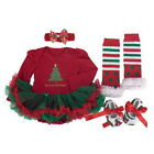 Toddler Baby Infant Clothes Dress Girl Xmas Clothing Outfits Tutu Newborn Romper