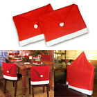 1 2 4 6 Santa Clause Red Hat Chair Back Cover Christmas Dinner Table Party Decor