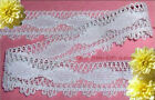 """3 Yd Lace Trim White Vintage 1-1/4"""" Cotton Picot J44V Added Items Ship No Charge"""