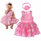 Baby Girls Infant Outfit Tutu Skirt Ruffled Dress Flower Headband 6-24M Clothing