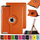 360 Rotating Smart Stand Cover Leather Case for Apple iPad 2/3/4 air2 Mini 1/2/3