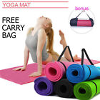 New 10mm Extra Thick 1830 X 610mm Yoga Mat Pilates Gym Fitness Physio Non-Slip