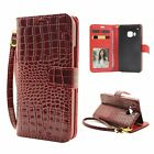 Luxury Leather Wallet Stand Flip Card Protector Skin Case For HTC M9 Huawei Y550