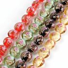 1 Strand 12mm Womens Lampwork Glass Coin Loose Beads Jewelry Findings Making DIY