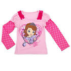 Disney Girls Light Pink Sofia the First Printed Faux Layered Graph - Toddler