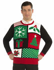 Jolly Holiday Knitted Ugly Sweater Adult Christmas Tacky Gag Gift Shirt Tree New