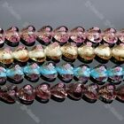 Transparent Lampwork Glass Flower Wrap Heart Loose Bead For Charm Jewelry Making