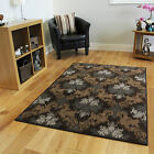 New Modern Brown Beige Trellis Rugs Small Large Cheap Soft Tribal Lounge Mats UK