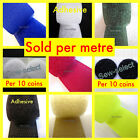 Velcro hook & loop sewing and sticky adhesive tapes & dots - SOLD PER METRE