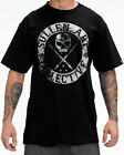 Sullen Clothing Badge Of Honor Blaq Mens T Shirt Black Skull Tattoo Goth Tee