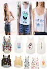 Tops Top emoji drucken Tank Top T-Shirt One-Size Damen