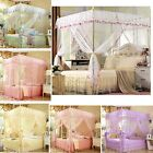 Princess 4 Corners Post Bed Canopy Mosquito Net Twin Full/Queen King All Size image