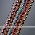 Transparent Lampwork Glass Flower Candy Color Coin Loose Bead For Charms Jewelry
