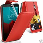 Vodafone Smart Prime 6✔Top Flip Leather Phone Case Skin Cover+LCD Film+Pen