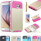 Hybrid Shockproof Heavy Duty Hard Case Cover For New Samsung Galaxy S6 / S6 Edge