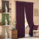Luxury HEAVY WEIGHT Square Eyelet Lined Curtains Ringtop Cassia