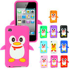 NEW STYLISH PENGUIN SILICONE CASE COVER  FOR APPLE IPOD TOUCH 4TH GEN 4G