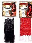 Adult size Steampunk Fingerless Lace Gloves Red or Black Costume Accessory fnt