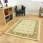 New Modern Cream Traditional Rugs Small Extra Large Long Big Huge Size Soft Mats