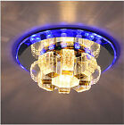 New 18cm 9W Crystal LED Ceiling lights chandeliers Colorful Aisle lights 8643H