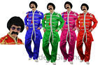 SERGEANT PEPPER FANCY DRESS COSTUME WITH WIG, TASH + GLASSES 1960S ROCK BAND