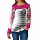 Joules Long Sleeved, Boat Neck  Top Womens  Jersey - Ruby Stripe
