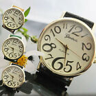 MEN'S WOMEN'S WRIST WATCH ARABIC NUMERALS ANALOG QUARTZ FAUX LEATHER MODISH GIFT