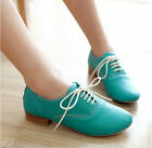 New Fashion Womens Mary Janes Mid Heel Lace Up Pumps Oxford Casual Shoes US 5-8