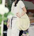 Hot Women Shoulder Bag Handbag Round Raffia Straw Flower Woven Beach bag