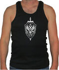 Russian Federation FSB emblem FBI CIA black 100% cotton muscle/gym tank top