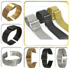 Stainless Steel Watch Strap Shark Mesh Chainmail Bracelet Unisex 18/20/22mm Hot
