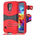 For Alcatel Conquest RUGGED Hard Rubber w V Stand Case Colors