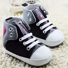 Infants Baby Boy Black Sneakers Crib Shoes Toddler shoes size 0-18 Months