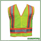 Safety Vests,Class 2 Non-Tearaway Mesh,Meets ANSI/ISEA,Class 2 ,Solid Body (10)