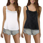 Sexy Ladies Lace Floral Bodycon Blouse Casual Cami Strap Tank Top Vest Shirt