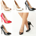 Womens Ladies Fashion High Stiletto Heel Peep Toe Office Formal Work shoes size