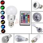 16 Color Changing Magic RGB LED Light Bulb Lamp E27 MR16 5W 9W 3W Remote Control