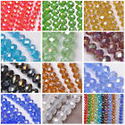 50pcs AB Chinese Crystal Glass Loose Beads Faceted Round 6x8mm 11 Color U Pick