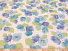 Discount Fabric Crepe Georgette Blue and Green Floral G100