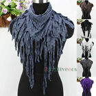 New Style Fashion Letter G&Dot Long Tassel Shawl Triangle Scarf Lady Scarves