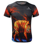 Tiger Quick-drying Sports Cycling Jersey 3D T-Shirt Round Top Tops Tee 3029