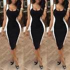 Sexy Women Lady Slim Bodycon Cocktail Ball Gown Evening Party Midi Pencil Dress